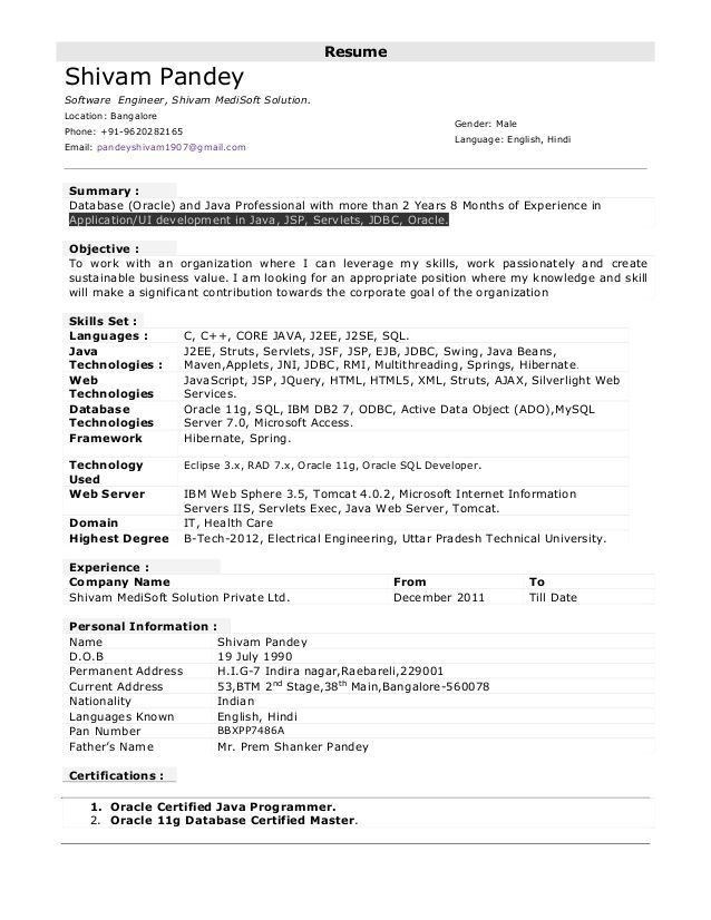 10 year experience sales cv example