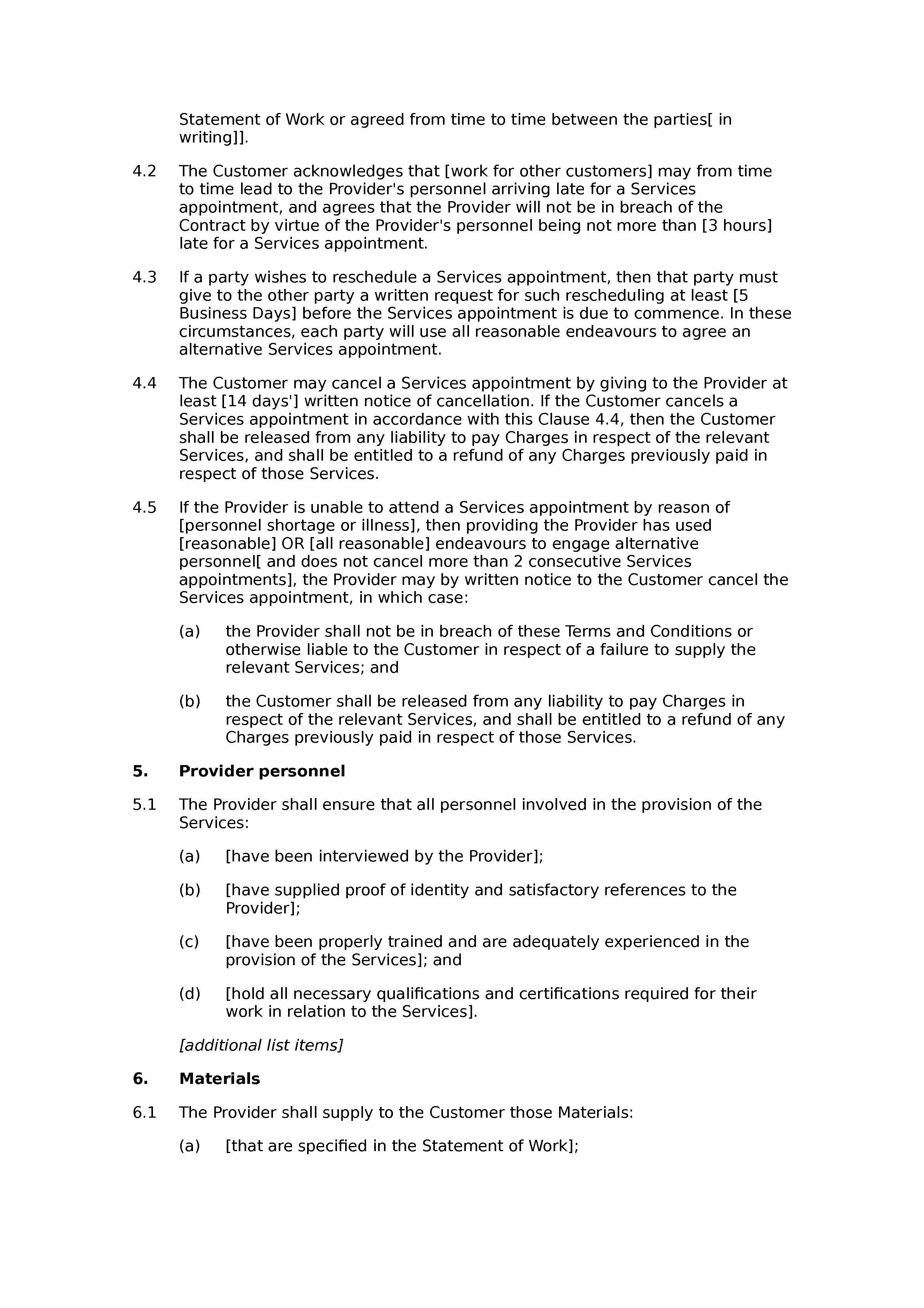 nih subcontract statement of work example