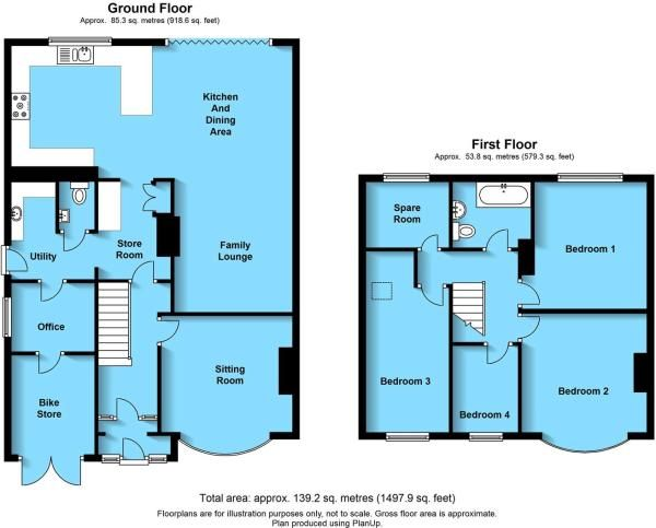 3 bed semi extension example plans