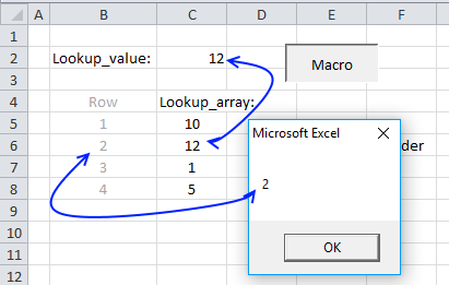 excel vba match function example