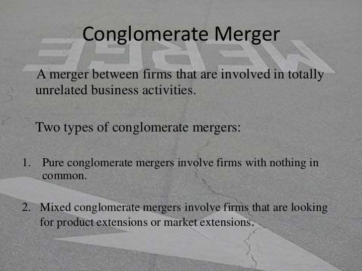 an example of a merger