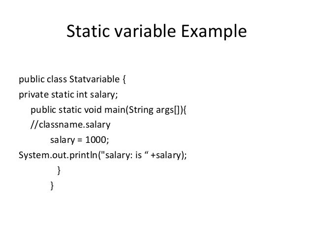 static and nonstatic variables in java example
