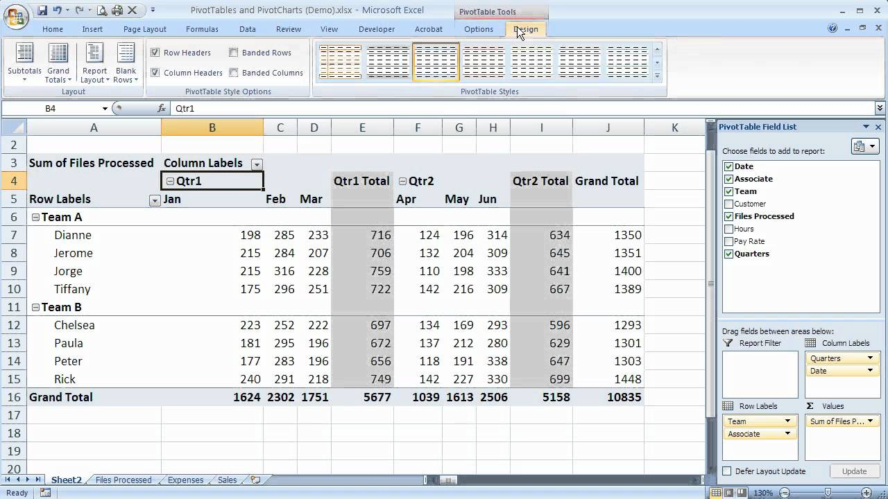 subtotal in excel 2007 with example