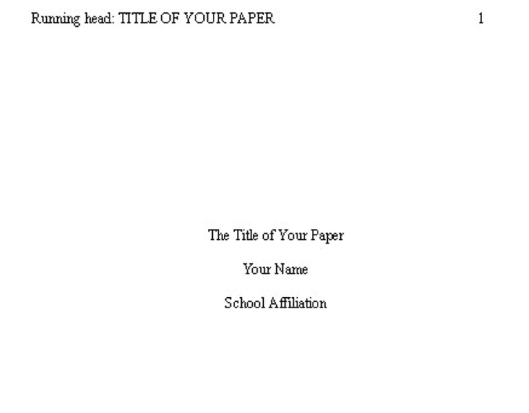 apa format title page example 2017