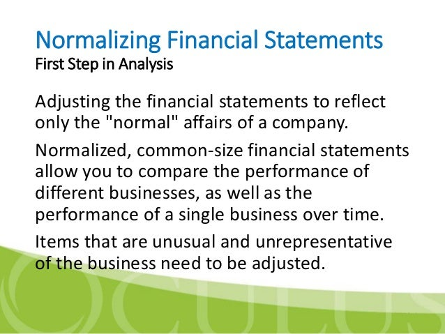 estimated maintainable operating cash flow normalized ebitda example