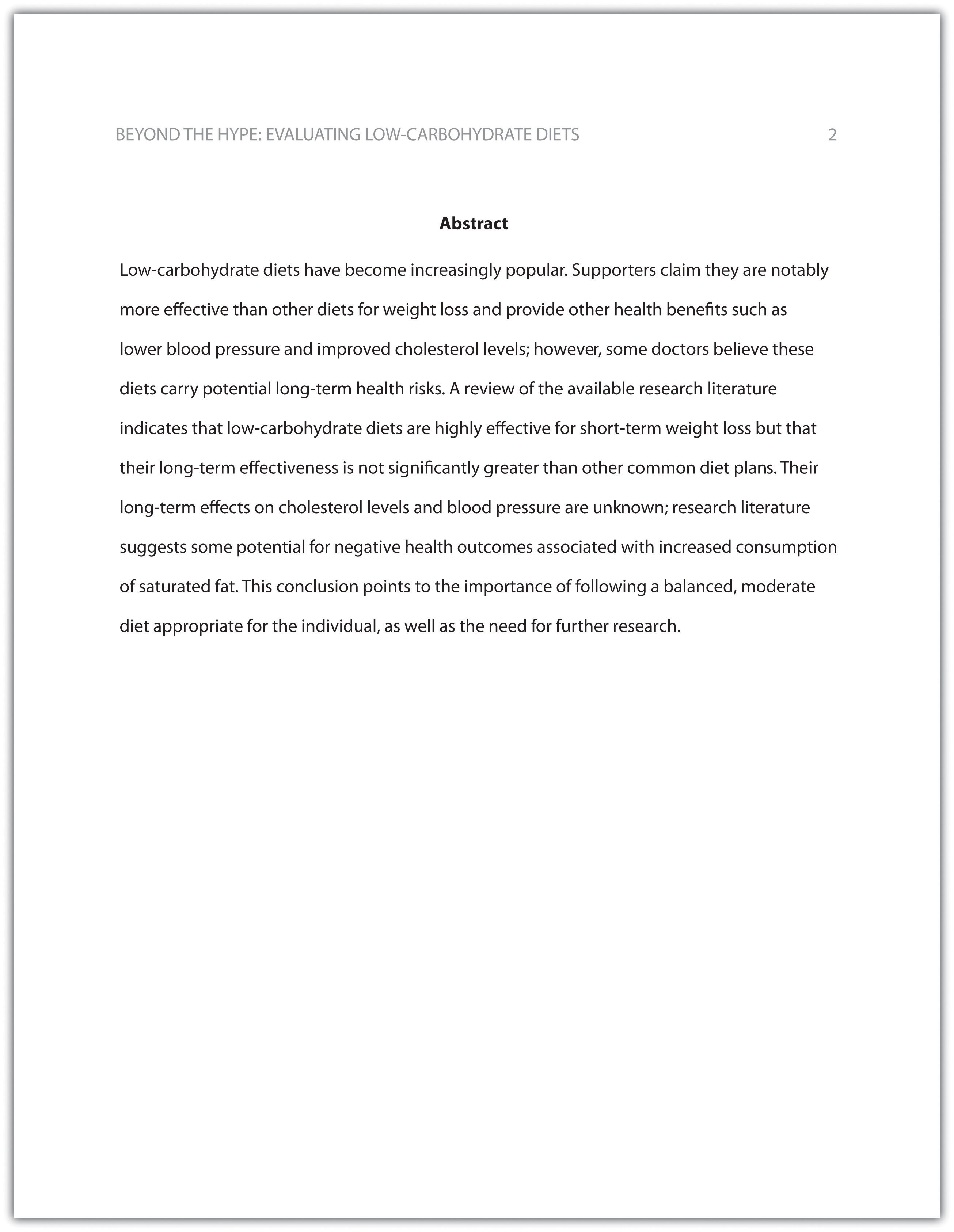 business research paper abstract example