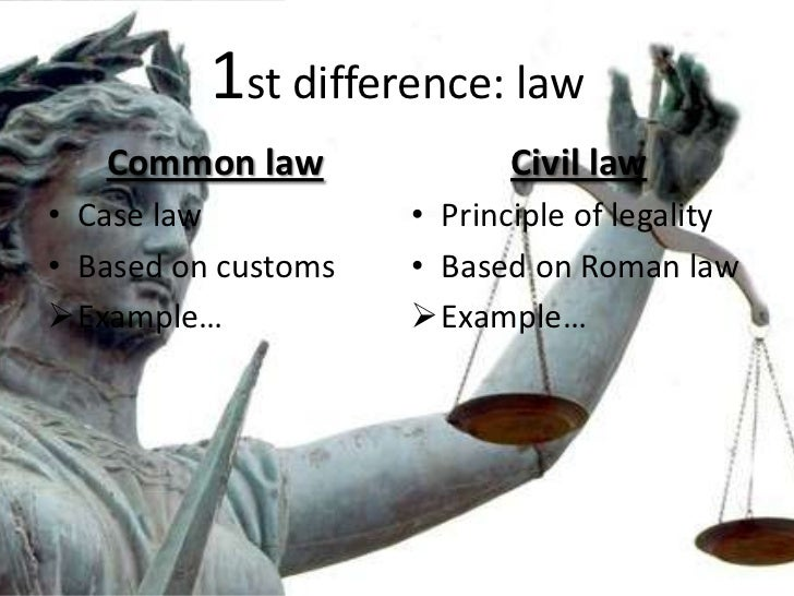 an example of a common law case
