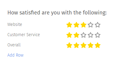 5 star rating html example