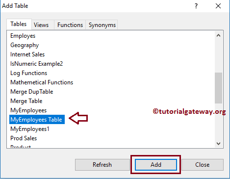 sql server create view example