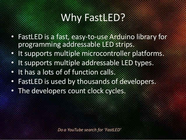 fastled rainbow cycle code example