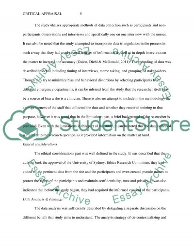 example of critical writing essay