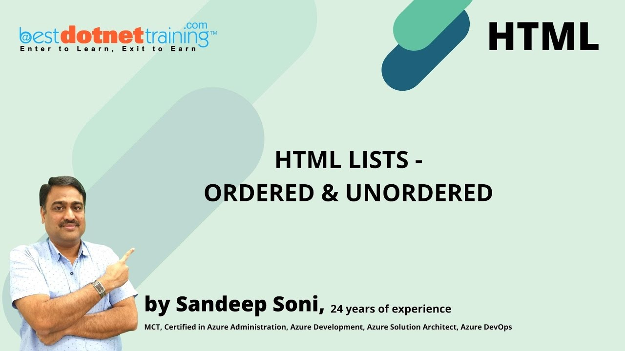 ordered and unordered list in html example