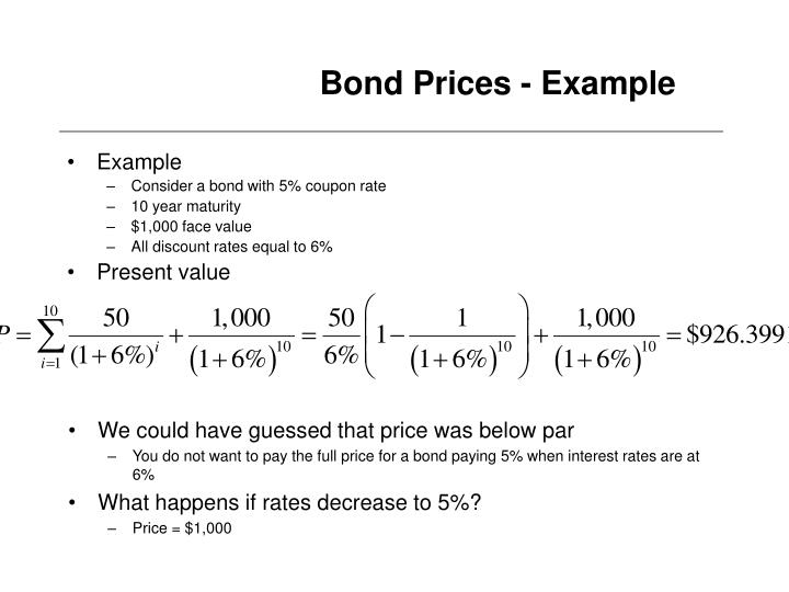 how to price a bond example