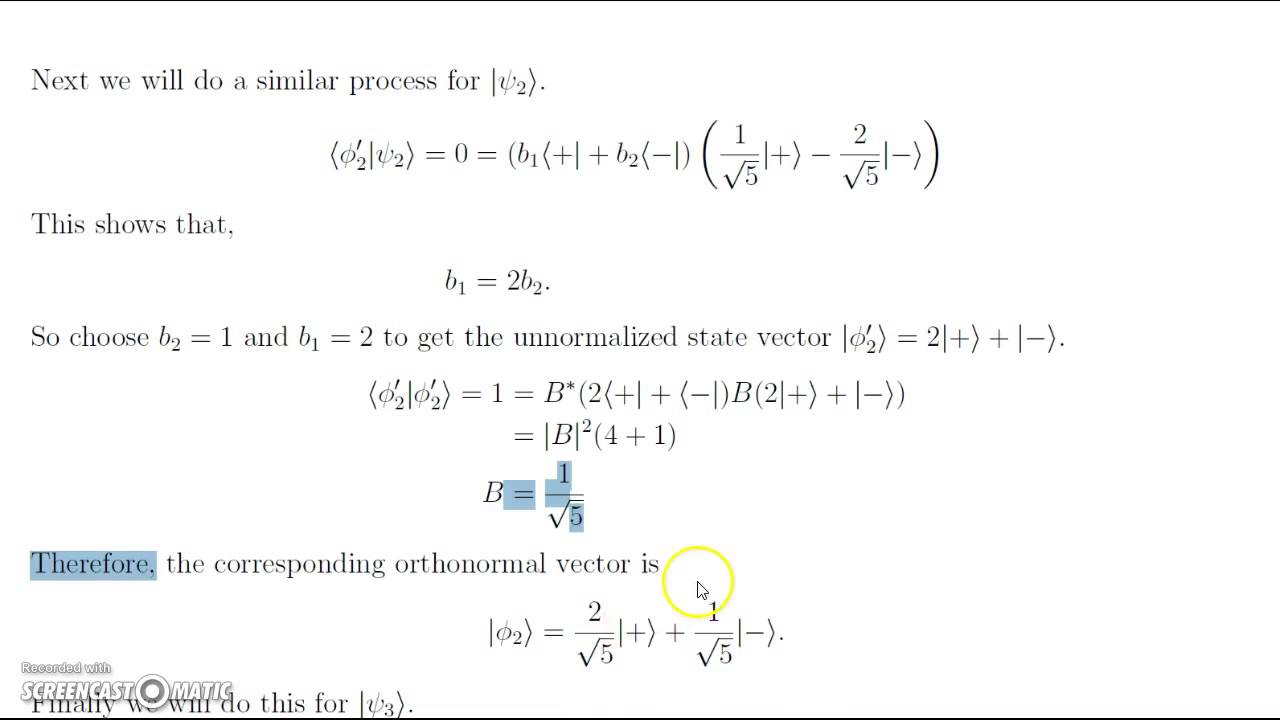 inner product of two functions example