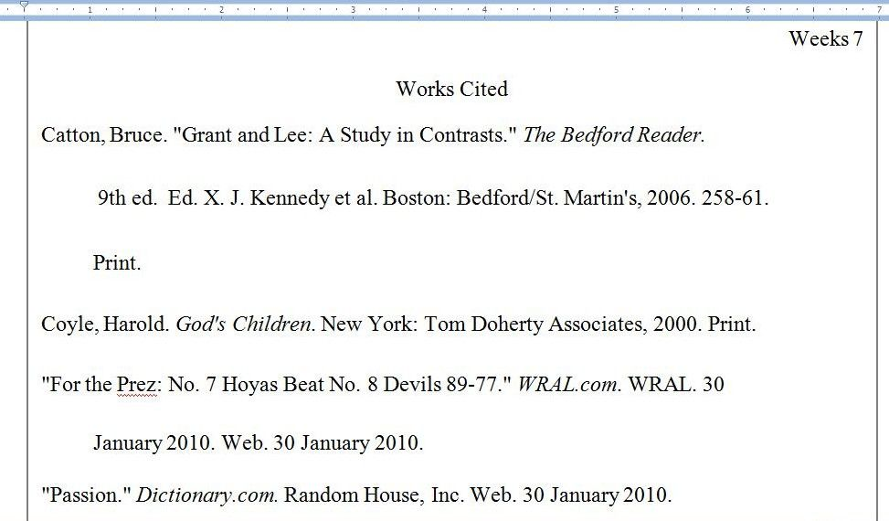 mla format works cited example quotes book