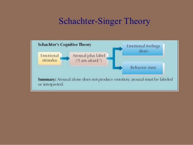 schachter singer theory of emotion example
