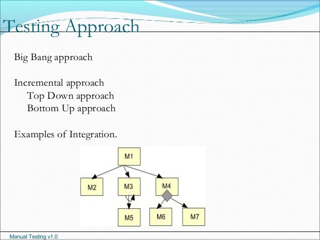 top down and bottom up approach in testing with example