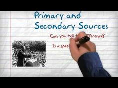 what is a secondary source example