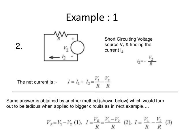 what is superposition theorem with example